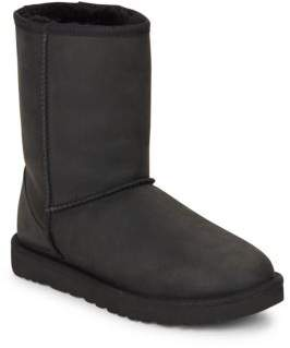 Classic Short Leather & UGGpure Boots $175 thestylecure.com