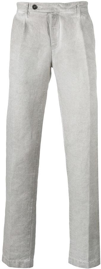 Massimo Alba faded straight-leg trousers