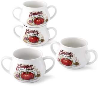 Campbell's Set of 4 pcs , 16oz soup mug with two handle WMT-L152
