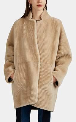 BEIGE Boon The Shop Women's Reversible Shearling & Suede Coat - Beige, Tan