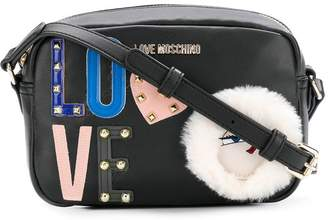 Love Moschino embellished crossbody bag