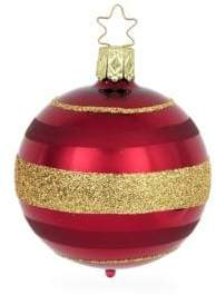 Luxor Striped Glass Ball Ornament