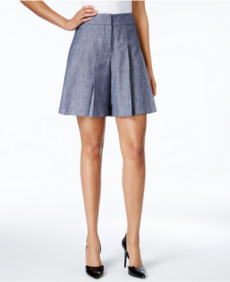Nine West Pleated Twill Soft Shorts $79 thestylecure.com