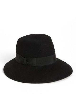 Women's Eric Javits 'Kim' Wool Fedora - Black $175 thestylecure.com