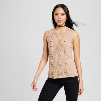 Cliche Women's Lace Front Sleeveless Tank $32.99 thestylecure.com