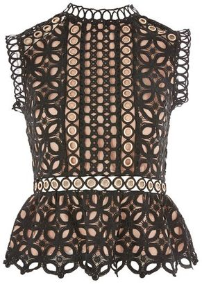 Topshop Eyelet lace shell blouse $100 thestylecure.com