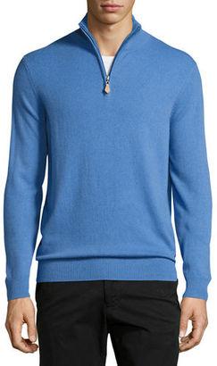 Neiman Marcus Cashmere Half-Zip Sweater $345 thestylecure.com