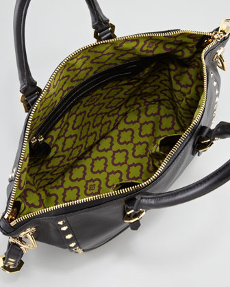 Oryany Mila Studded Leather Tote Bag, Black