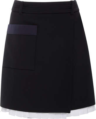 Victoria Beckham Victoria D-Ring Wrap Mini Skirt