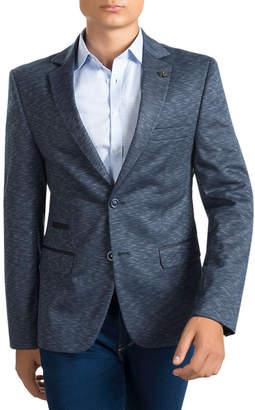 Ron Tomson Trim Key Pattern Two Button Notch Lapel Sportcoat