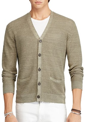 Polo Ralph Lauren Linen Silk V-Neck Cardigan Sweater $185 thestylecure.com