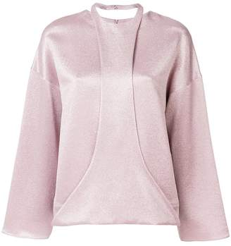 Valentino hammered lame top