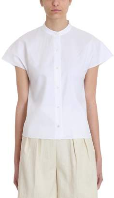 Theory Dolman White Cotton Shirt