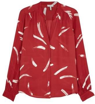Joie Mintee Printed Silk Shirt