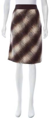 CH Carolina Herrera Mohair Chevron Skirt