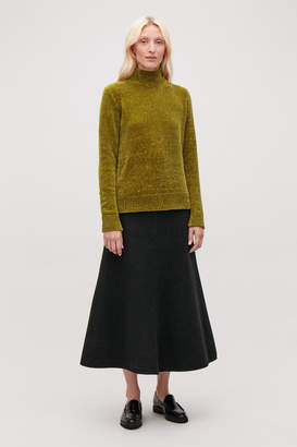 Cos CHENILLE JUMPER WITH ZIP