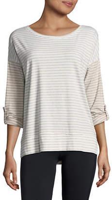 Calvin Klein Striped Dolman Stretch T-Shirt