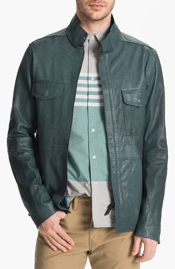 Edun Leather Field Jacket