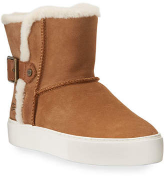 UGG Aika High-Top Buckle Sneakers