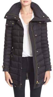 Women's Burberry Brit 'Harrowden' Hooded Down Coat $1,150 thestylecure.com