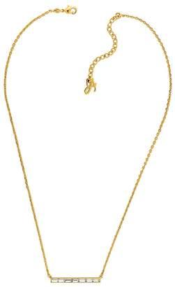 """Adore Baguette Bar Necklace, 16"""""""
