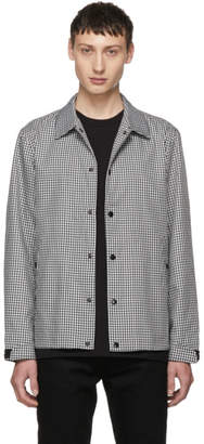 Rag & Bone Black and White Houndstooth Coaches Jacket