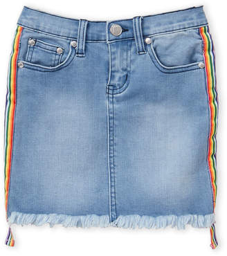 Pinc Premium Girls 7-16) Rainbow Stripe Denim Skirt