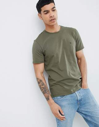 Calvin Klein T-Shirt With Small Logo Olive Night