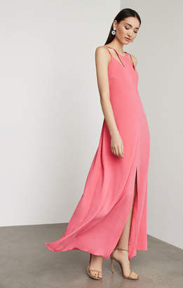 BCBGMAXAZRIA Strappy Cutout Maxi Dress