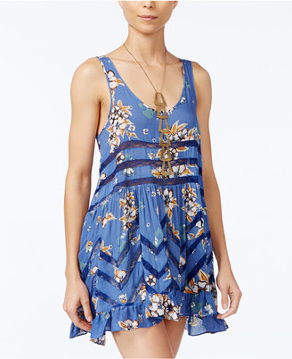 Free People Floral-Print Trapeze Dress $88 thestylecure.com