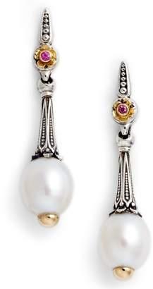 Konstantino Pearl & Pink Sapphire Drop Earrings