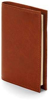 Rustic Refillable Pocket Notebook In Smooth Antique Brown