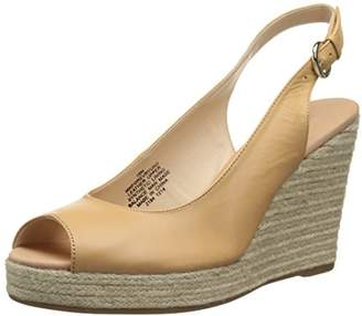 Nine West Women's Forevryung Leather Wedge Sandal