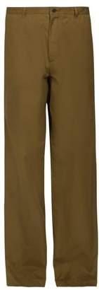 Balenciaga Straight Leg Chino Trousers - Mens - Green