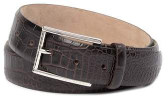 BOSS T-Lelion Croc Embossed Leather Belt