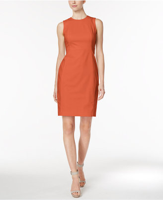 Calvin Klein Stretch Canvas Sheath Dress $89.98 thestylecure.com