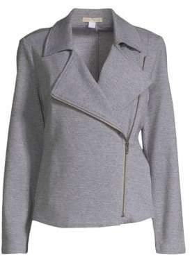 Eileen Fisher Moto Two-Way Zip Jacket
