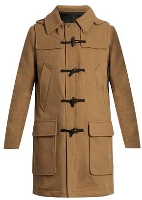 ami hooded wool blend duffle coat. Black Bedroom Furniture Sets. Home Design Ideas