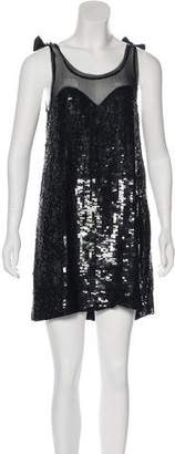 Rachel Gilbert Sequin-Accented Mini Dress