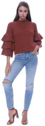 Endless Rose Tiered Sleeve Sweater