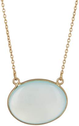 Argentovivo 18K Gold Plated Sterling Silver Chalcedony Pendant Necklace