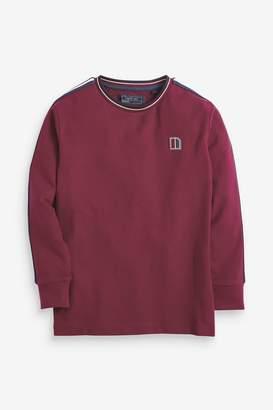 Next Boys Plum Long Sleeve Taped T-Shirt (3-16yrs) - Purple