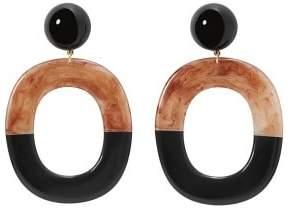 MANGO Bicolour pendant earrings