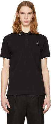 McQ Black Swallow Badge Polo