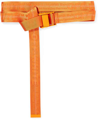 Off-White Canvas-jacquard Belt - Orange
