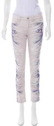IRO Mid-Rise Printed Jeans w/ Tags
