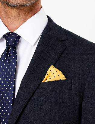 M&S CollectionMarks and Spencer Pure Silk Spot Print Pocket Square