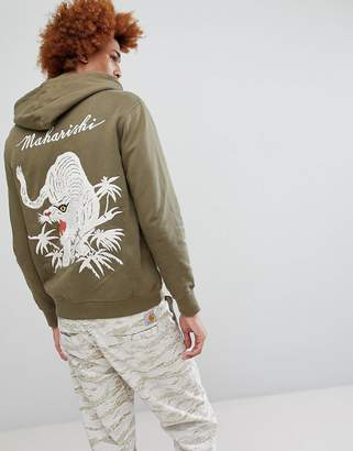 MHI Tiger Embroidered Hooded Sweat