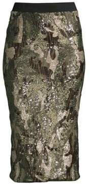 Le Superbe Liza Sequin Bodycon Skirt