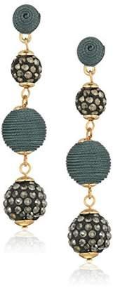 Panacea Hematite Linear Ball Earrings